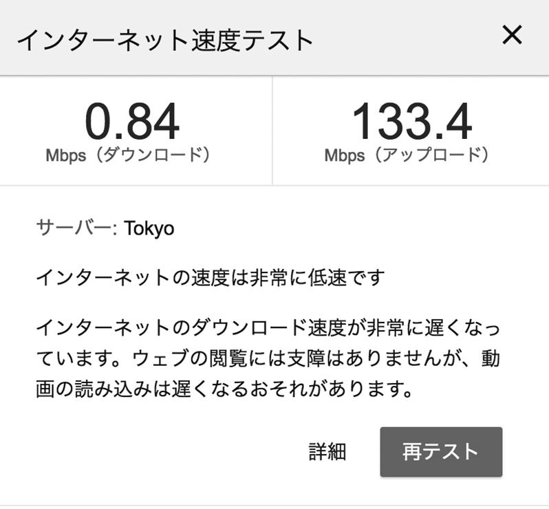 IPv4接続の時